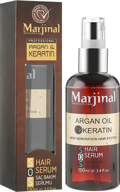 Сыворотка для волос с кератином с аргановым маслом - Marjinal Argan Oil Keratin Hair Serum