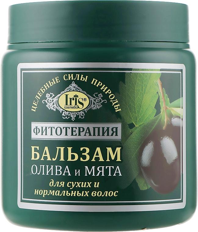 """Бальзам """"Олива и мята"""" для сухих и нормальных волос - Iris Cosmetic"""