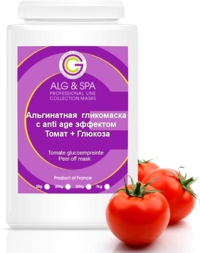 Альгинатная гликомаска с anti age эффектом Томат + Глюкоза - ALG & SPA Professional Line Collection Masks Peel off Mask Tomate Glucoempreinte