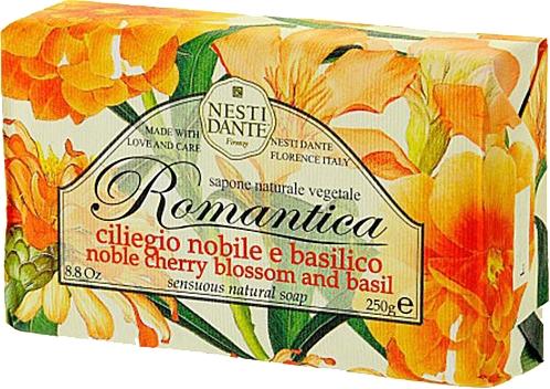 "Мыло ""Вишня и базилик"" - Nesti Dante Romantica Soap — фото N1"