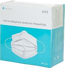 Духи, Парфюмерия, косметика Медицинская маска 3- слойная, нестерильная, белая - Abifarm M95