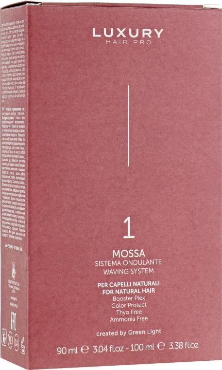 Завивочная композиция №1 - Green Light Mossa Waving System (compos/90ml + neutralizer/100ml)