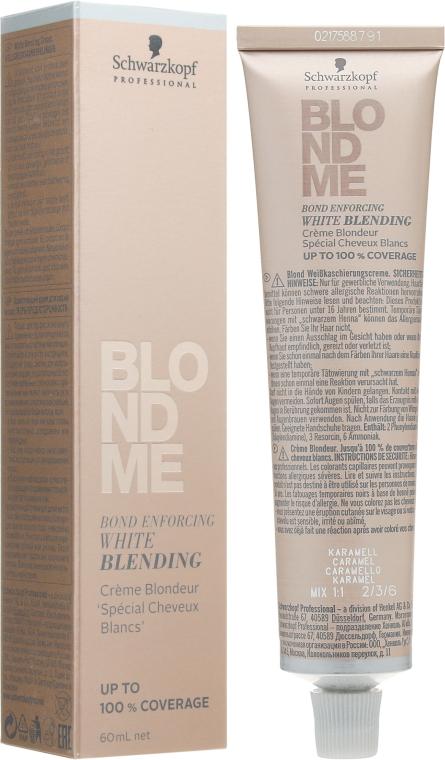 Осветляющий бондинг-крем для седых волос - Schwarzkopf Professional Blondme Bond Enforcing White Blending