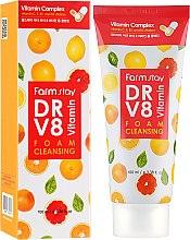 Духи, Парфюмерия, косметика Витаминная пенка для очищения кожи - FarmStay DR.V8 Vitamin Foam Cleansing