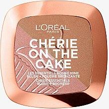 Парфумерія, косметика Пудра-рум'яна для обличчя - L'Oreal Paris Cherie on the Cake Cherry Fever