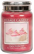 """Духи, Парфюмерия, косметика Ароматическая свеча в банке """"Вишнево-ванильный вихрь"""" - Village Candle Cherry Vanilla Swirl"""