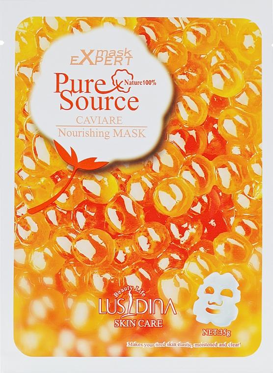 Питательная маска для лица с экстрактом икры - Dizao Lusidina Pure Source Caviare Nourishing Mask