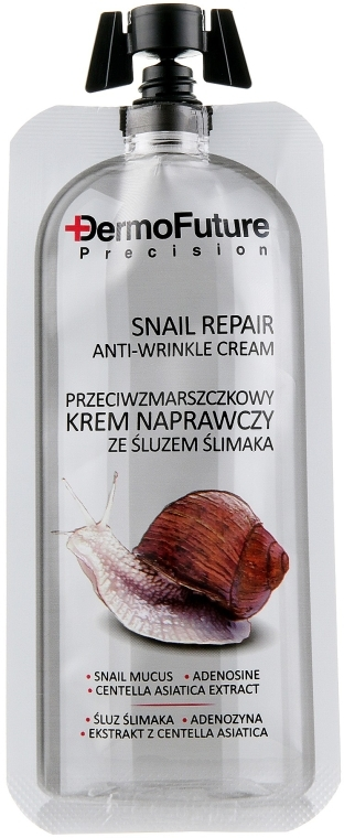 Восстанавливающий крем от морщин с муцином улитки - DermoFuture Snail Repair Anti-Wrinkle Cream