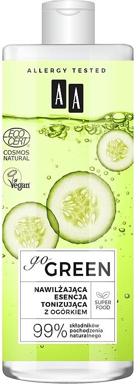 Увлажняющая тонизирующая эссенция с экстрактом огурца - AA Go Green