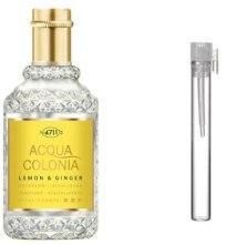 Духи, Парфюмерия, косметика Maurer & Wirtz 4711 Aqua Colognia Lemon & Ginger - Одеколон (пробник)