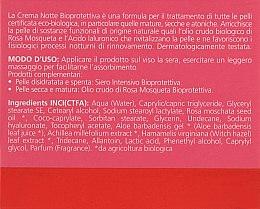 Ночной био-крем на основе масла роза москета - Bioearth Bioprotettiva Crema Notte — фото N3