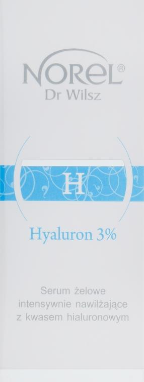Увлажняющая гелевая сыворотка с 3 % гиалуроновой кислотой - Norel Hyaluron 3% Intensive Moisturizing Gel Serum