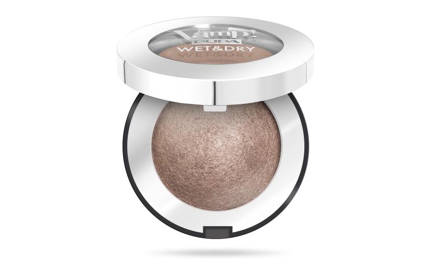Запеченные тени с сияющим финишем - Pupa Vamp! Wet & Dry Eyeshadow