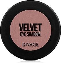 Духи, Парфюмерия, косметика Матовые тени для век - Divage Velvet Eye Shadow