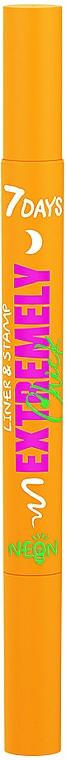 Светящаяся подводка-штамп для лица и тела - 7 Days Extremely Chick UVglow Neon Liner & Stamp