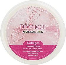 Антивозрастной регенерирующий крем для лица с Коллагеном, Гиалуроновой кислотой и Витамином Е - Deoproce Natural Skin Collagen Nourishing Cream — фото N3