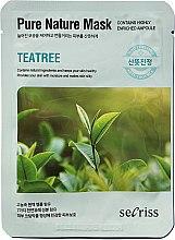 """Духи, Парфюмерия, косметика Тканевая маска для лица """"Чайное дерево"""" - Secriss Pure Nature Teatree Mask"""