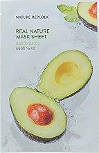 Духи, Парфюмерия, косметика Тканевая маска с экстрактом авокадо - Nature Republic Real Nature Avocado Mask Sheet