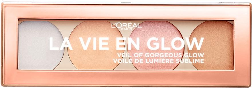 Палетка хайлайтеров для лица - L'Oreal Paris La Vie En Glow Highlighting Powder Palette