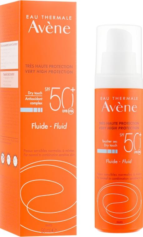Солнцезащитный флюид для лица - Avene Eau Thermale Sun Care Fluid SPF50