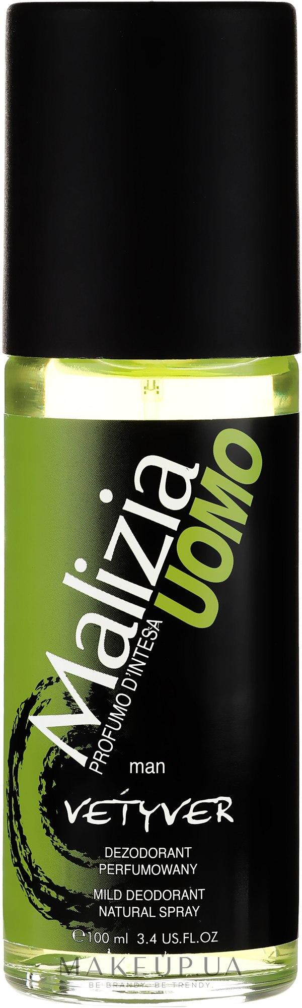 Дезодорант парфюмированный в стекле - Malizia Uomo Vetyver  — фото 100ml