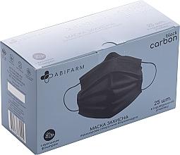 Духи, Парфюмерия, косметика Защитная маска с угольным фильтром, 3-слойная, стерильная, черная - Abifarm Black Carbon
