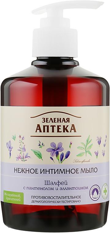 """Нежное интимное мыло противовоспалительное """"Шалфей"""" - Зеленая Аптека"""