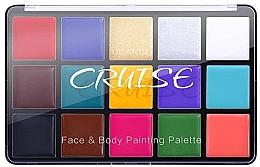 Духи, Парфюмерия, косметика Палетка кремовых теней для лица и тела, 15 цветов - Ucanbe Cruise Palette Face & Body Painting