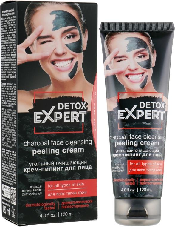Угольный очищающий крем-пилинг для лица для всех типов кожи - Detox Expert Charcoal Face Cleansing Peeling Cream