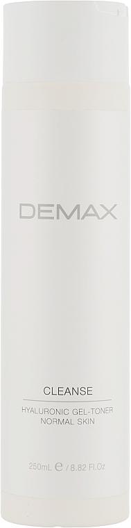 Гель-тоник для всех типов кожи с гиалуроновой кислотой - Demax Gel Tonic For Normal Skin