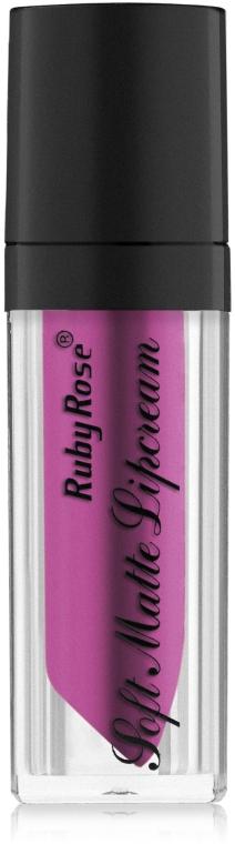 Жидкая матовая помада с легким матовым эффектом - Ruby Rose Soft Matte Lipcream