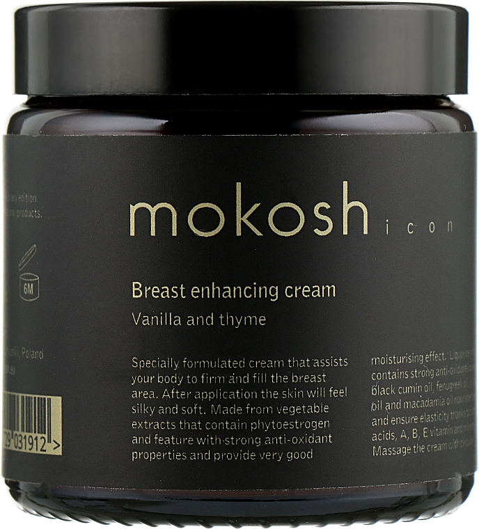 "Крем для бюста ""Ваниль и тмин"" - Mokosh Cosmetics Icon Vanilla & Thyme Bust Cream"