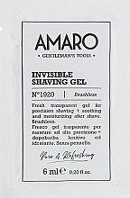Духи, Парфюмерия, косметика Прозрачный гель для бритья - FarmaVita Amaro Invisible Shaving Gel (пробник)