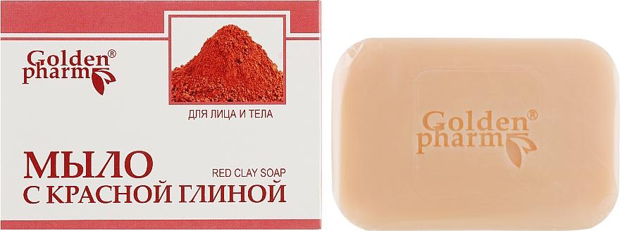 Мыло с красной глиной для лица и тела - Голден-Фарм