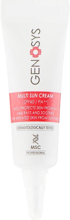 Солнцезащитный крем - Genosys Multi Sun Cream SPF40 (пробник)