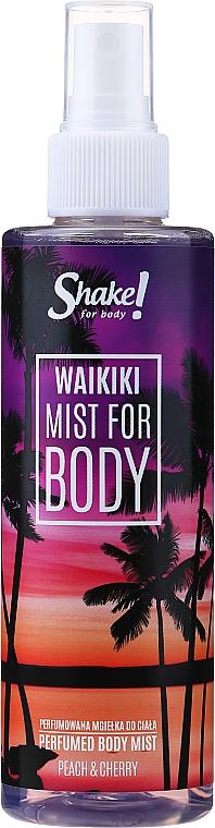 Shake for Body Perfumed Body Mist Waikiki Peach & Cherry - Парфюмированный мист для тела