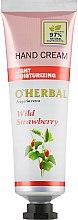 Духи, Парфюмерия, косметика Крем для рук с земляникой - O`Herbal Light Moisturizing Hand Cream Wild Strawberry