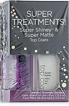 Духи, Парфюмерия, косметика Набор блеск+матовый закрепитель - CND Super Treatments