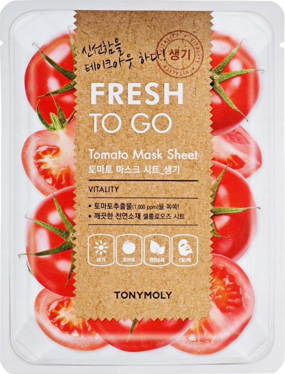 Освежающая тканевая маска с томатами - Tony Moly Fresh To Go Mask Sheet Tomato