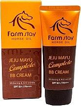 Духи, Парфюмерия, косметика ББ-крем на основе лошадиного жира - FarmStay Jeju Horse Oil Complete BB Cream