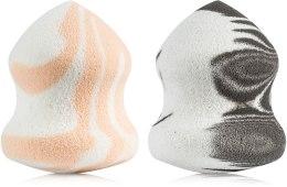 Духи, Парфюмерия, косметика Спонж для макияжа грушевидной формы, оранжевый+черный - Puffy