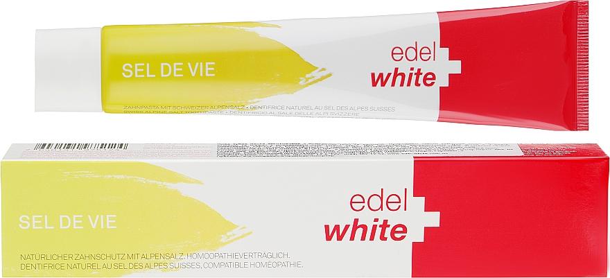 Травяная зубная паста с солью швейцарских Альп - EDEL+WHITE Sel De Vie