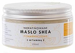 Духи, Парфюмерия, косметика Масло Ши нерафинированное с витамином E - Natur Planet Orange Shea Butter Unrefined & Vitamin E