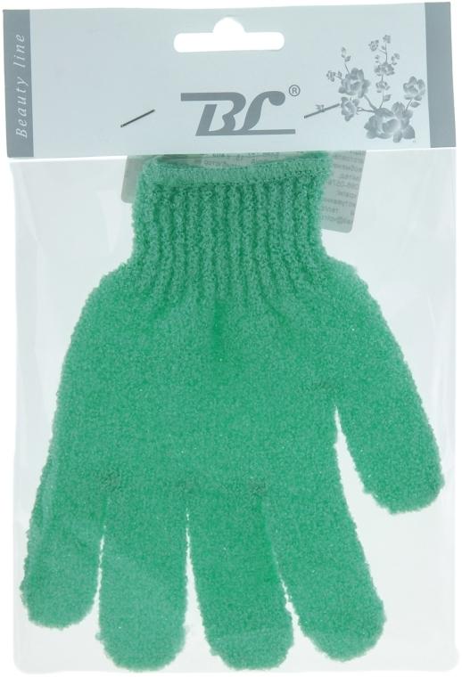 Мочалка-перчатка банная, салатовая - Beauty Line