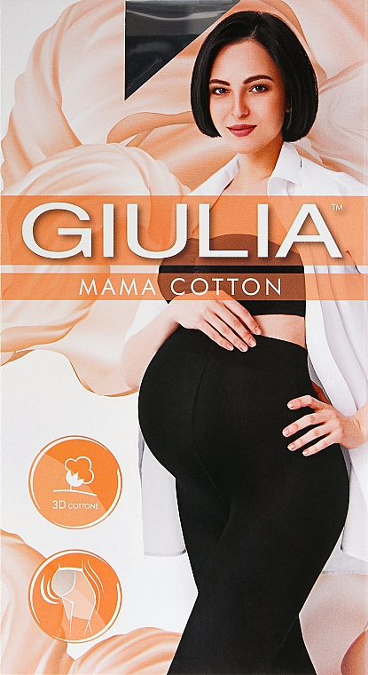 "Колготки для женщин ""Mama Cotton"" 200 Den, nero - Giulia"