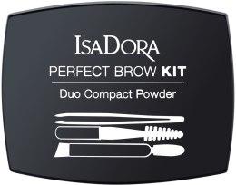 Пудра для бровей - IsaDora Perfect Brow Kit Duo Compact Powder — фото N1