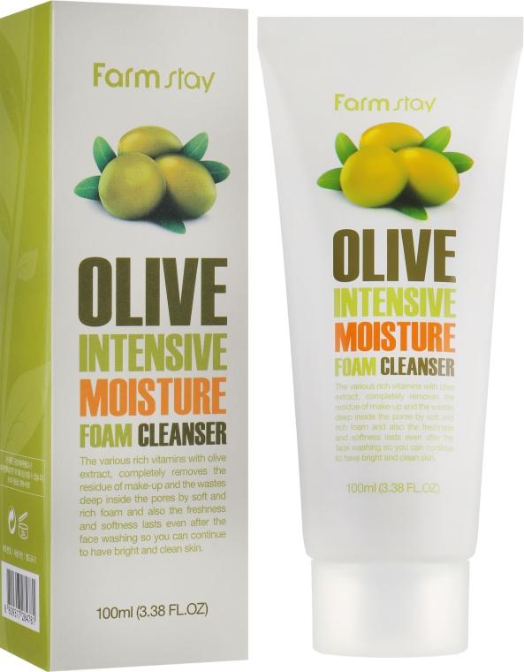 Пенка очищающая с экстрактом оливы увлажняющая - FarmStay Olive Intensive Moisture Foam Cleanser