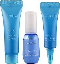 Парфумерія, косметика Нібір мініатюр для зволоження шкіри - Laneige Water Bank Moisture Kit (essence/10ml+cr/10ml+eye/gel/3ml)