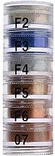 Духи, Парфюмерия, косметика Тени рассыпчатые пирамида 6 цветов - Cinecitta Pyramid Powder Eye Shadows №F2-07