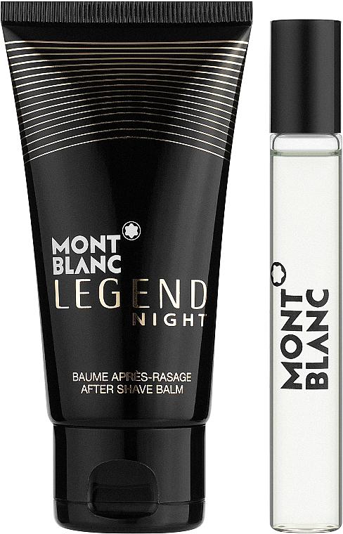 Montblanc Legend Night - Набор (edp/7.5ml + ash/balm/50ml)